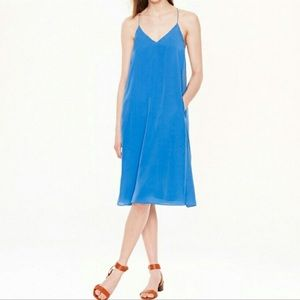 J. Crew CARRIE Slip Dress Blue 10